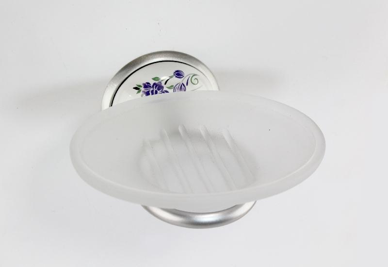 държач на сапунера стъкло хром/сатен