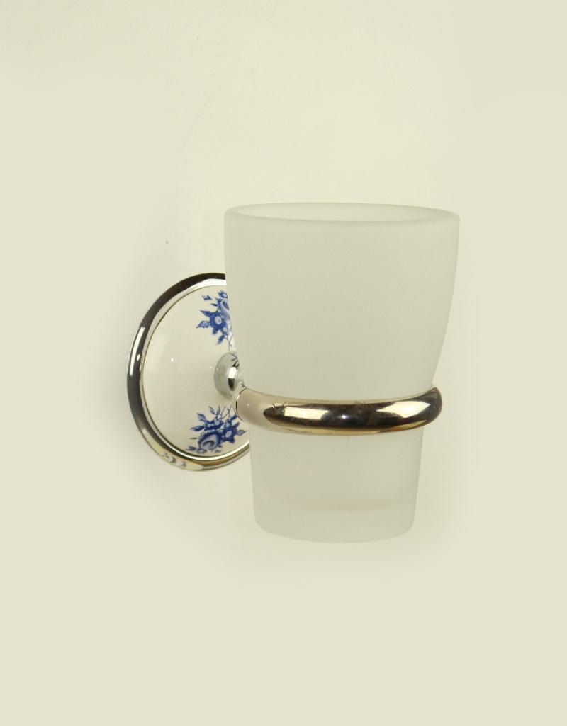 чаша за зъбни четки стъкло хром