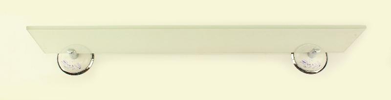 етажера за баня бяло/ хром