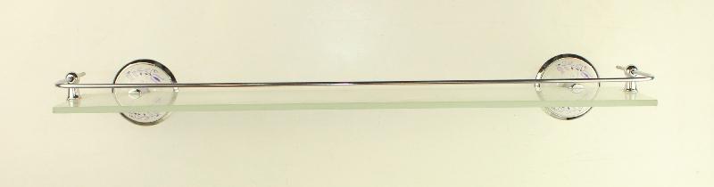 етажера за баня бяло/ хром с протектор