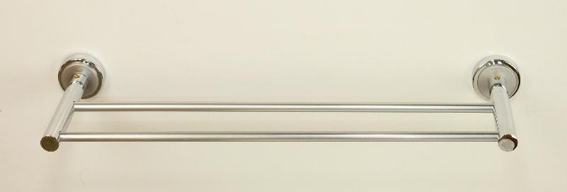 кърподържател две пръчки от месинг хром мат
