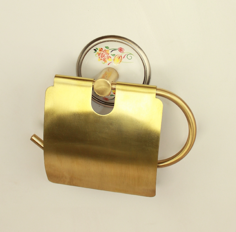 държач на тоалетна хартия старо злато