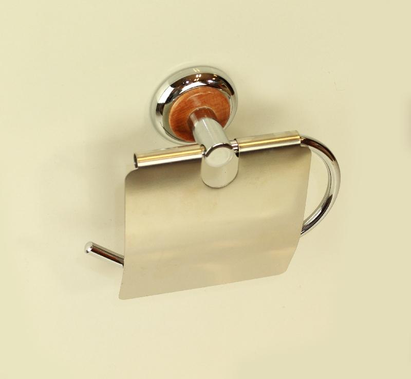 държач на тоалетна хартия дърво