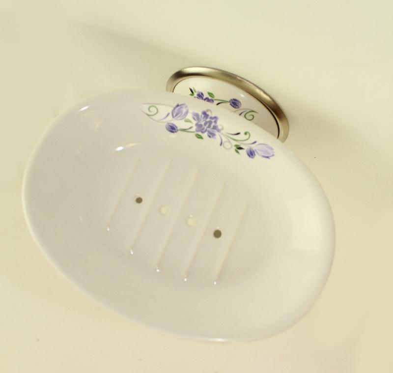 държач на сапунера порцелан хром/сатен