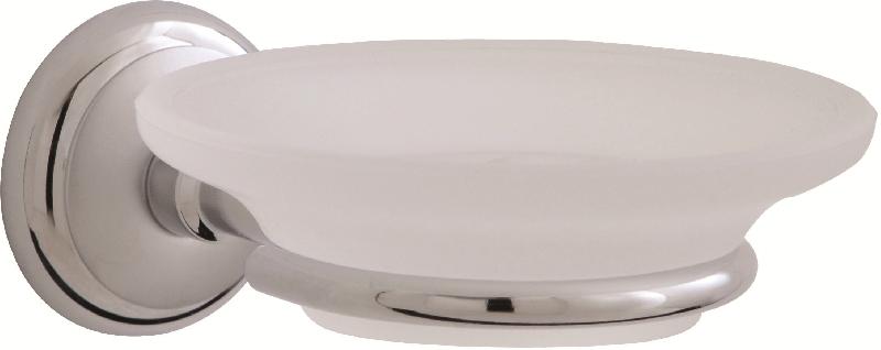 сапунера за баня стъкло хром - мат