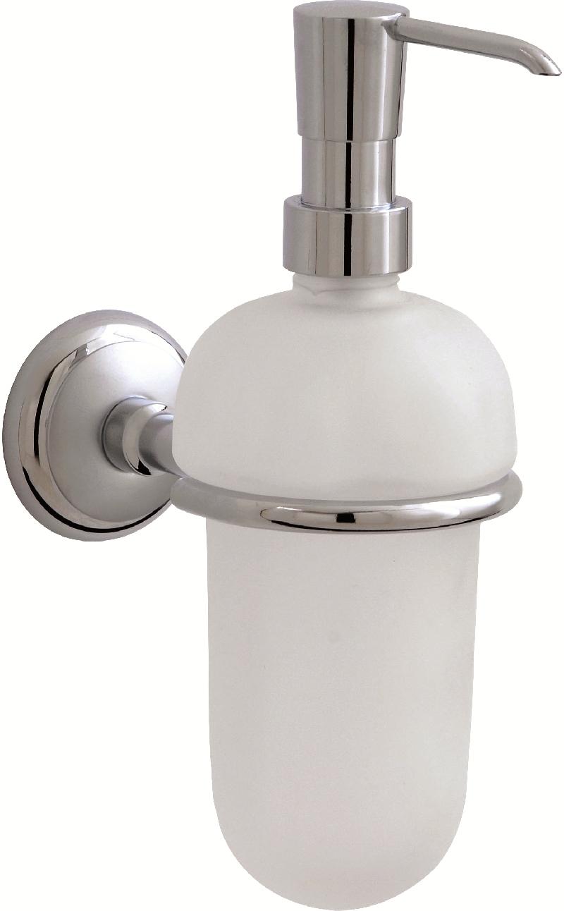 Аксесоари за баня месинг,държач на дозатор за течен сапун стъклен