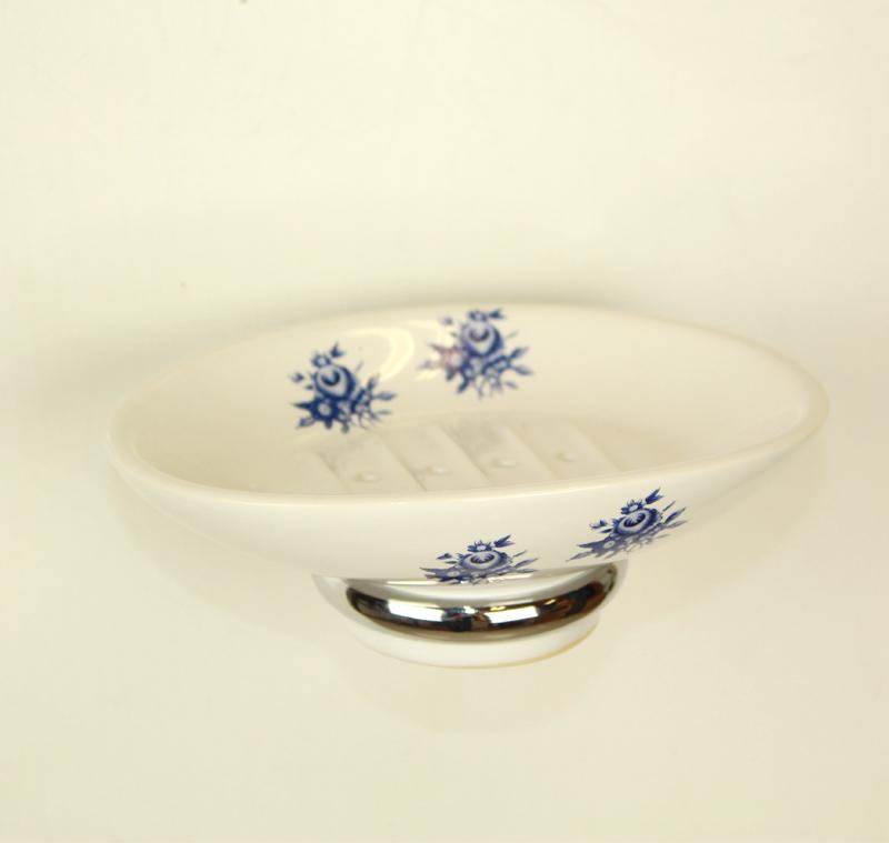 сапунера за баня стъкло и месинг цветни