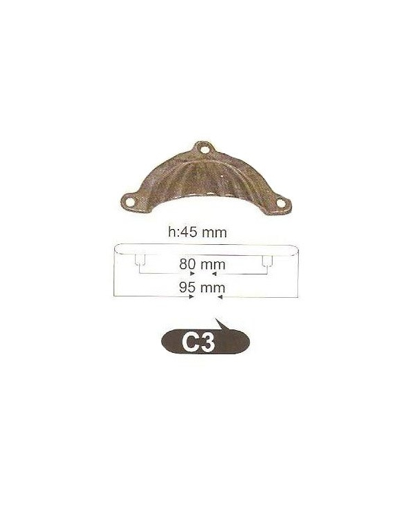 Дръжки за мебели от месинг C 3 РАЗПРОДОЖБА-50%