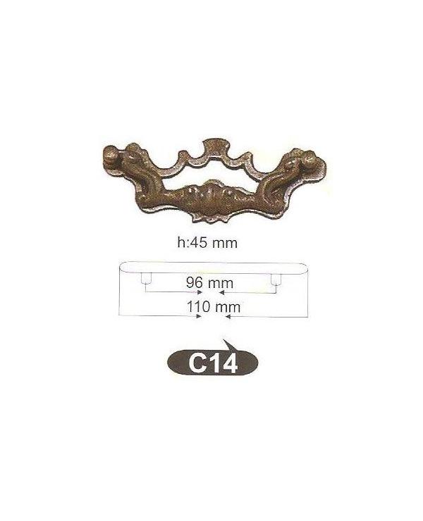 Мебелни дръжки месинг C14РАЗПРОДАЖБА-50%