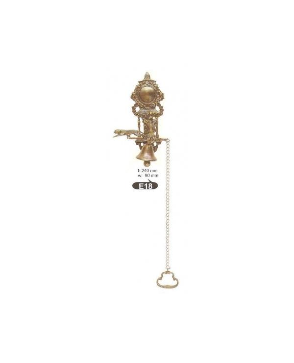 Е18звънец камбана,цвят антик. месинг-ЛИКВИДАЦИЯ-50%