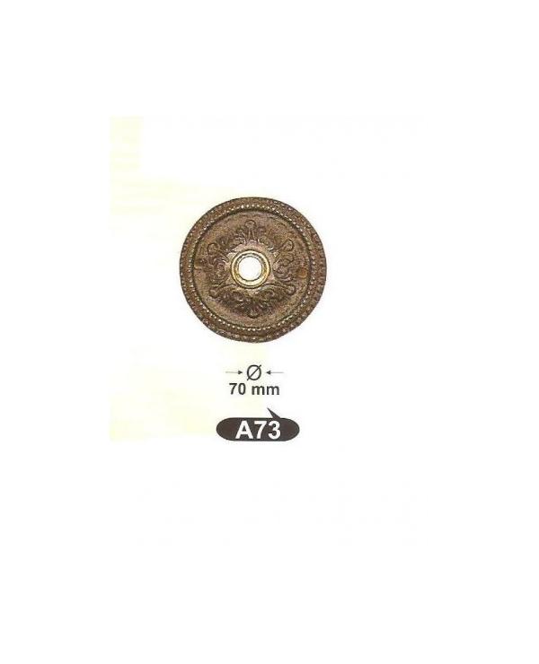 A 73 звънец-декор.розетка, матер. месинг, оксит,антик