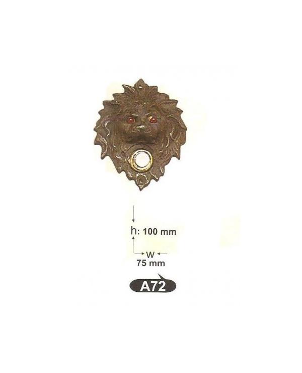 A 72звънец-декор.розетка-месинг,антик/оксит.хорър-ЛИКВИДАЦИЯ-40%