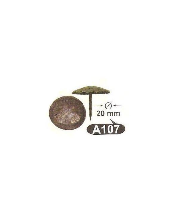 A 107,кабари за мебели и врати Ф 20мм месинг-ЛИКВИДАЦИЯ-40%