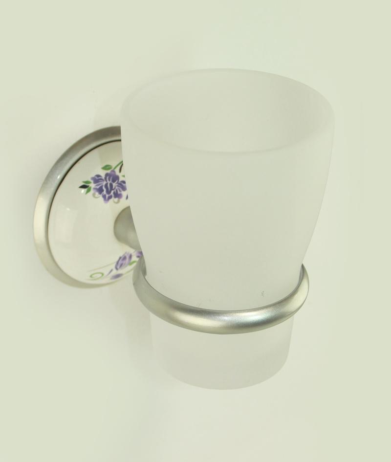чаша за зъбни четки стъкло сатен