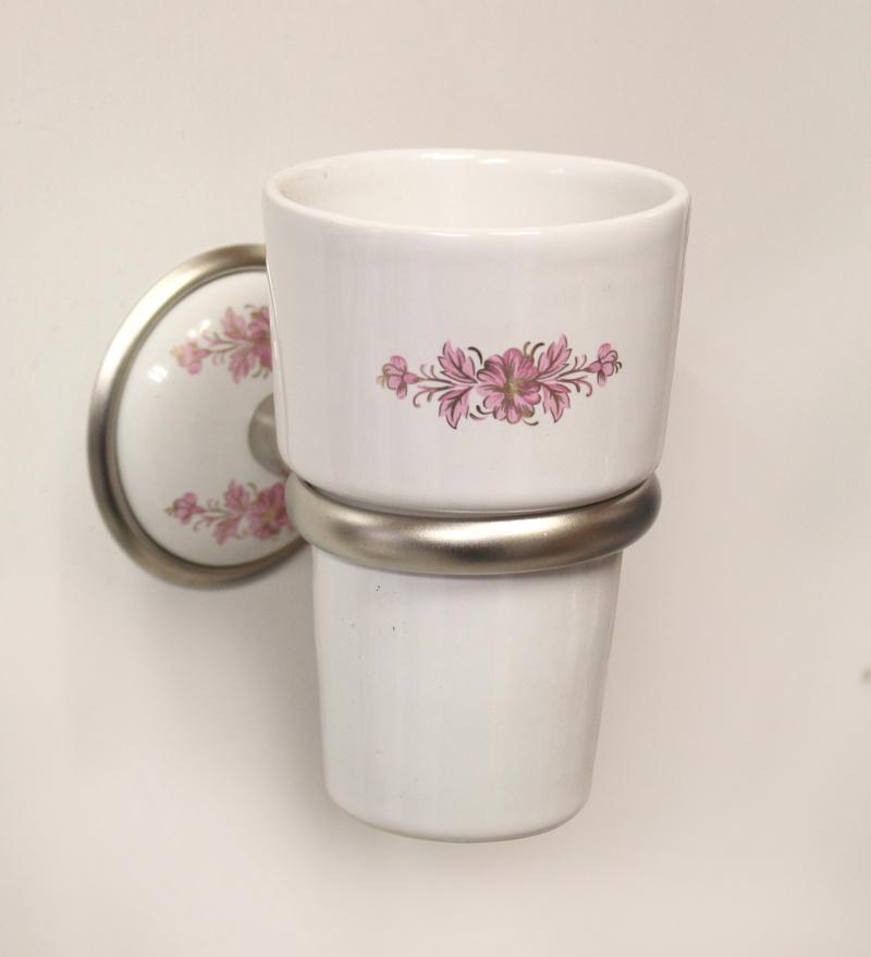 Аксесоари за баня порцелан,държач на чаша порцелан десен148