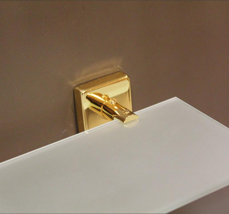 етажера за баня злато