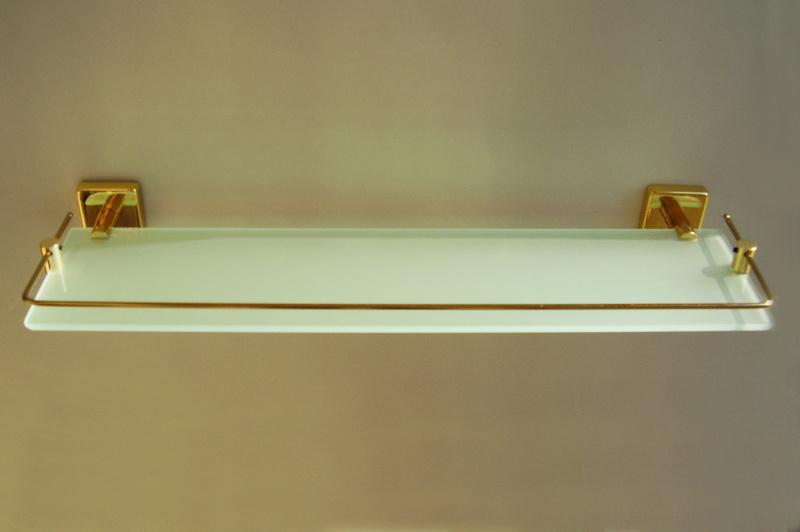 етажера за баня злато с предпазител