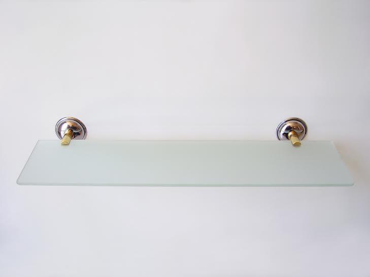 етажера за баня хром/злато