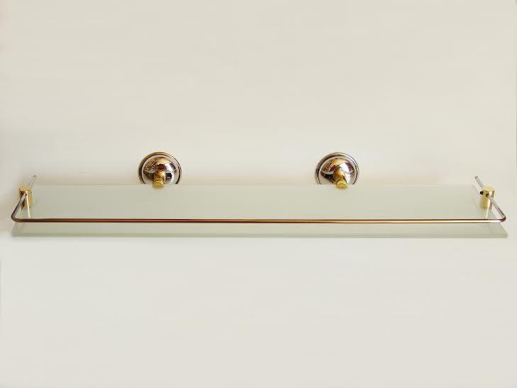 етажера за баня хром/злато с протектор