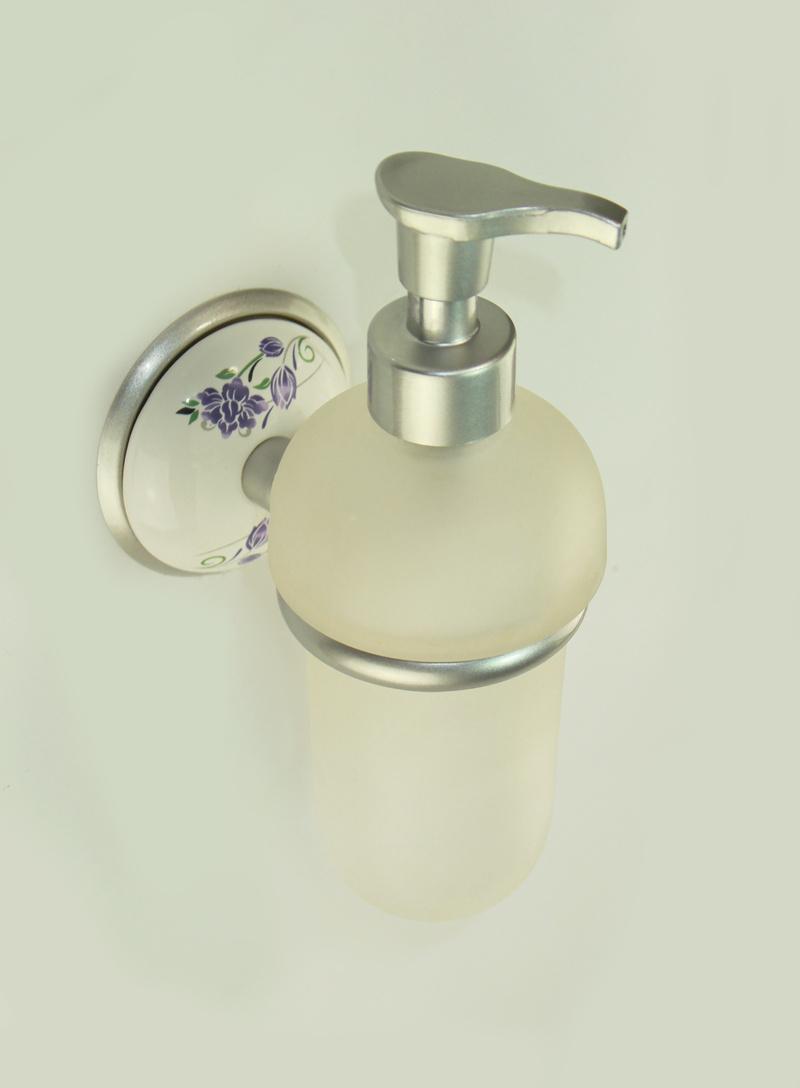 Държач на дозатор за течен сапун стъкло хром-сатен