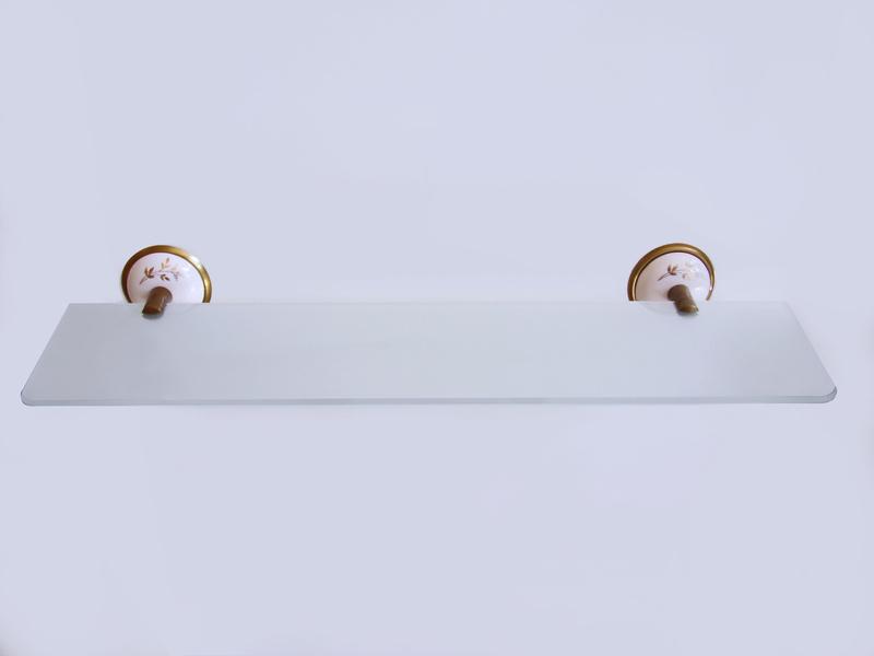 етажерака за баня под огледало старо злато