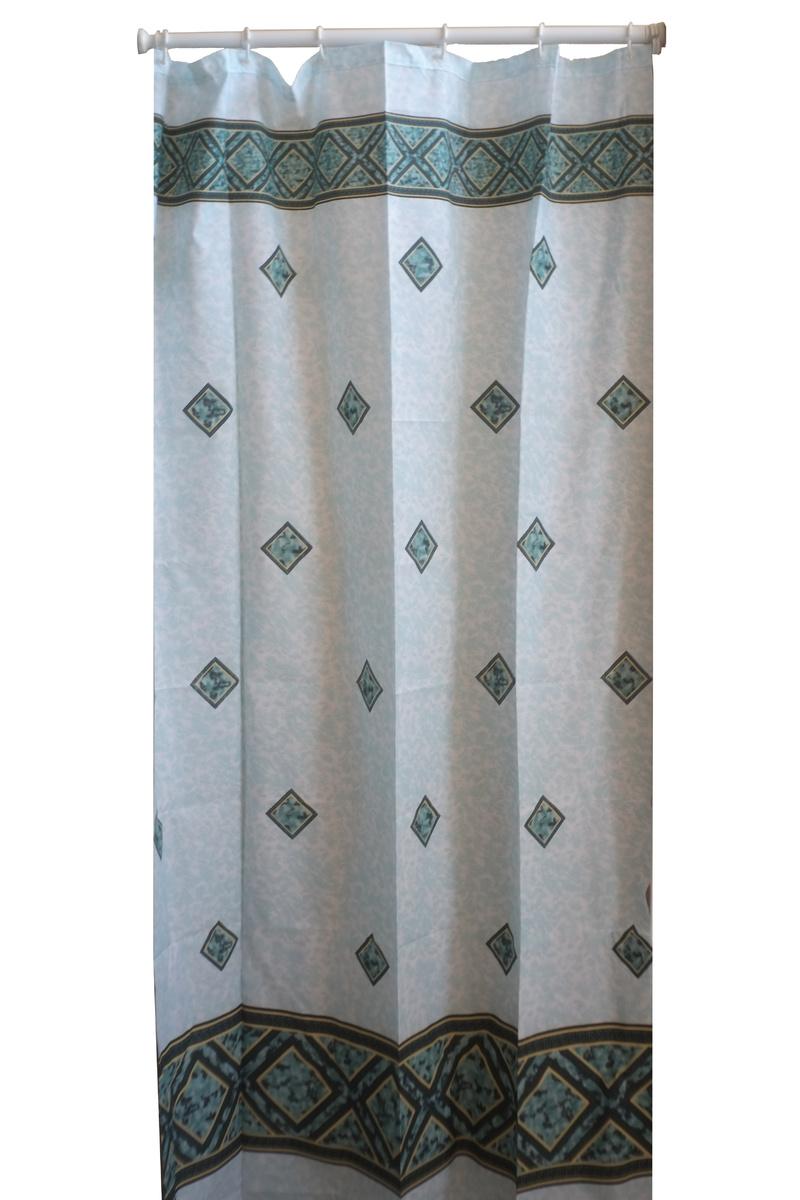 Завеса за баня зелена полиестер120см ЛИКВИДАЦИЯ-50%