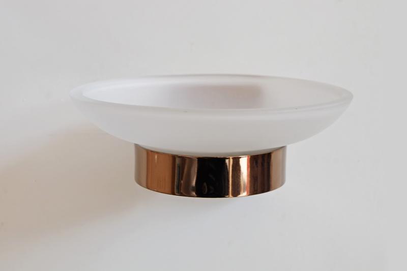 сапунера червено злато стъкло