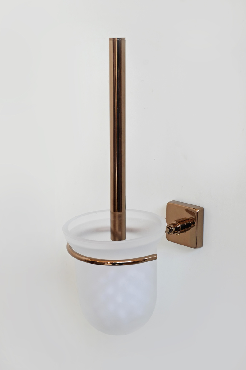 тоалетна четка червено злато стъкло