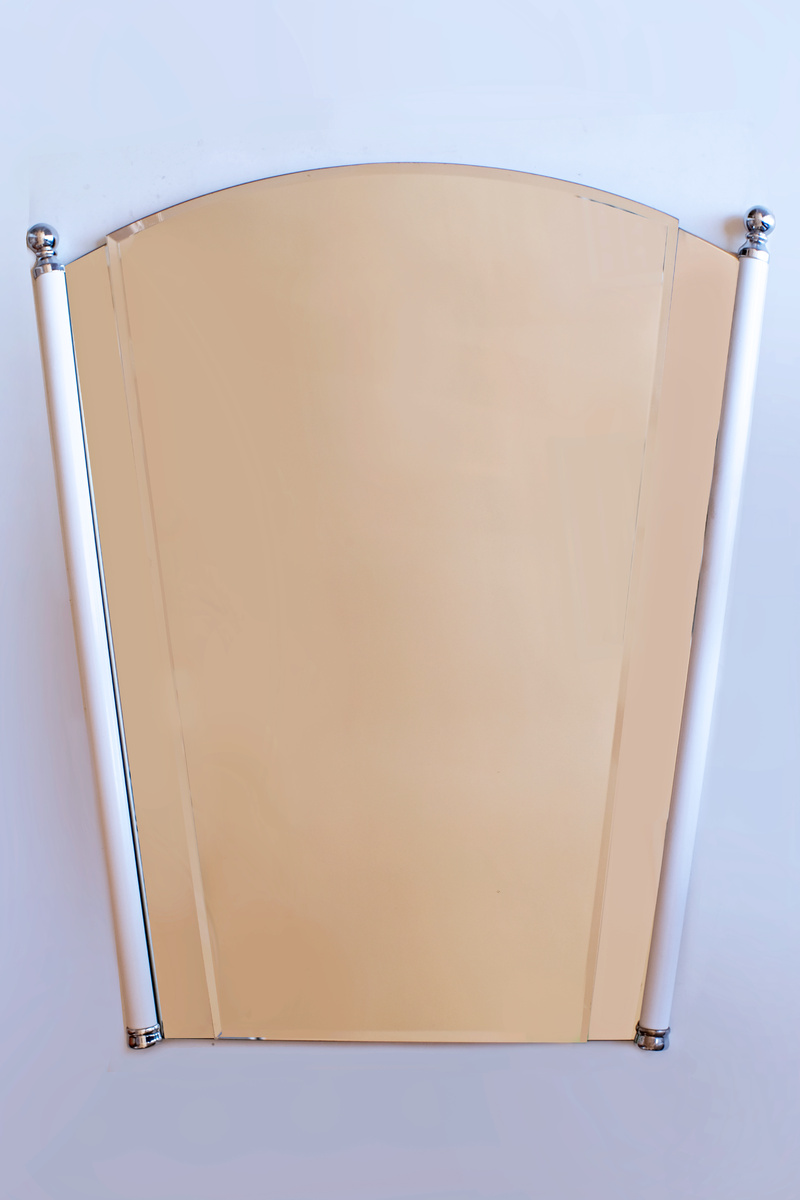 Одета.Кристално огледало ПЕПЕРУДА рамка,месинг