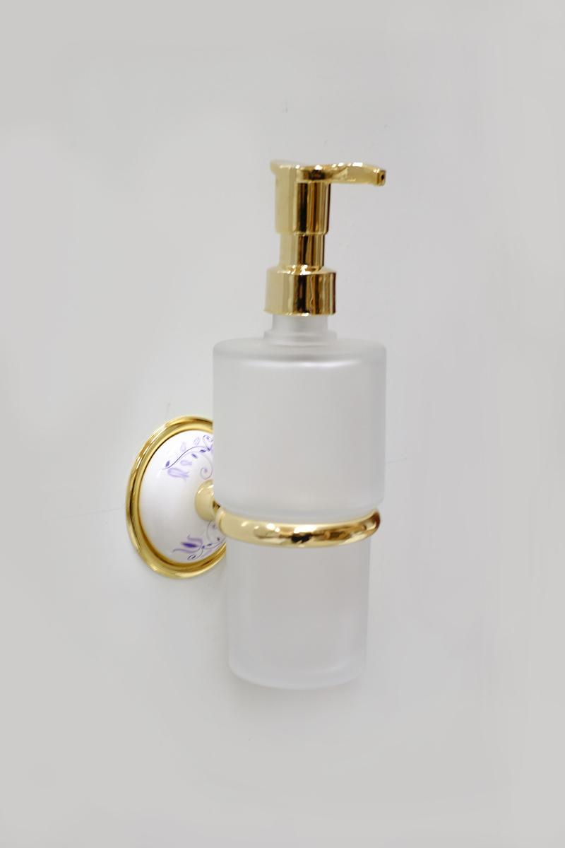 Д-ч на стъклен доз. течен сапун месинг позлатен
