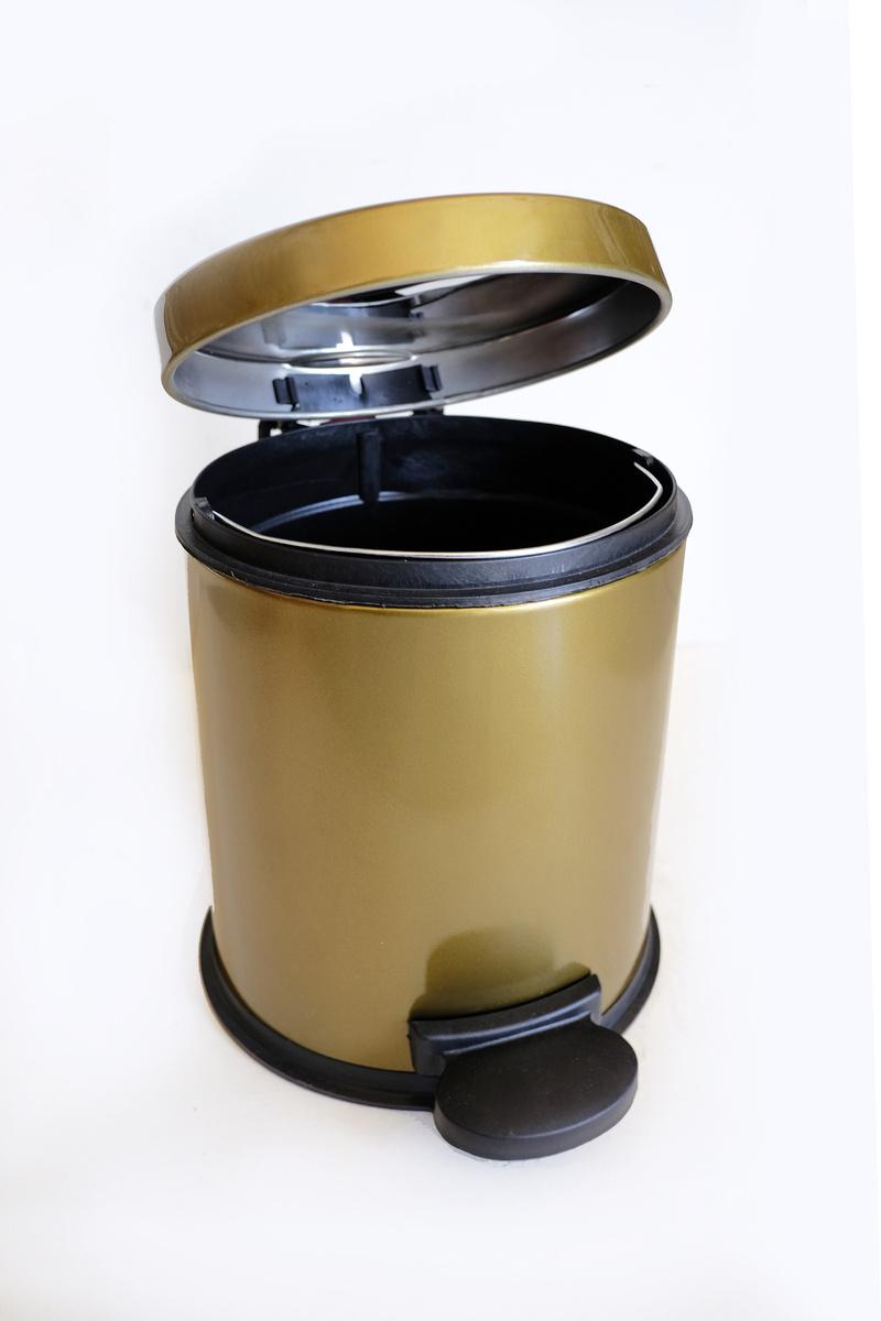Тоалетни кошчета 3л.с педал старо злато