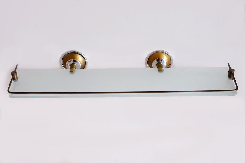 Етажера-месинг,ст.злато/хром с протектор