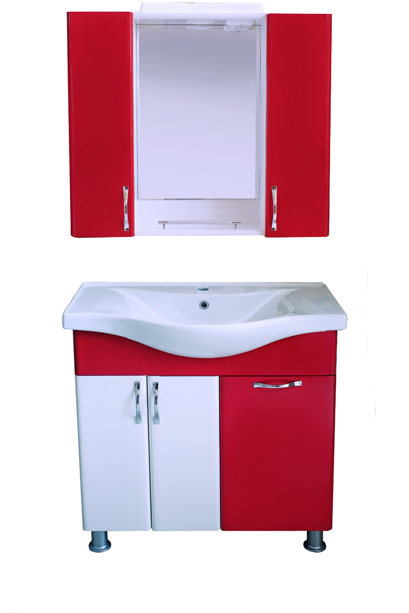 Шкаф за баняPVC80см/6-бордо(3003)панер РАЗПРОДАЖБА
