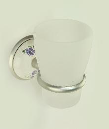 чаша за зъбни четки хром сатен