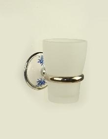 Аксесоари за баня порцелан,държач на чаша  стъкло