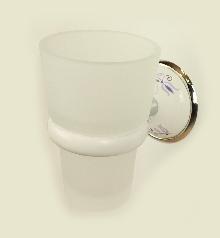 Болеро бяло/хром.порц.д-ч чаша стъкло