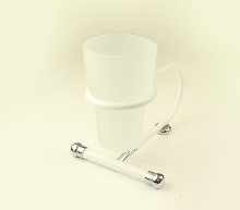 Болеро бяло/хром.чаша зъбни четки стояща