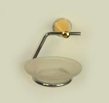 сапунера стъкло и месинг хром / злато
