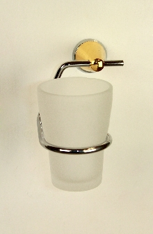 Аксесоари за баня месинг,д-ч на чаша хром/злато