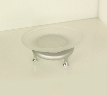 Плутон сапунера стояща - стъкло -  хром - мат