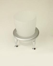 Плутон чаша  стояща - стъкло -  хром - мат