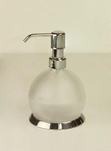 Дозатор за течен сапун 44040 хром - стъкло
