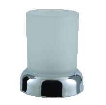 Стоящи.99028 чаша за зъбни четки,стъкло/хром