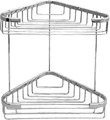 Мреж.етажерка за баня 2 нива хром ъглова 22 х 22см