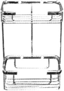 Мреж.етажерка за баня 2 нива хром каре