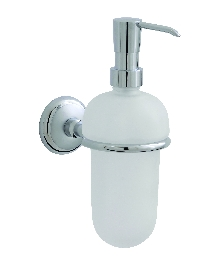 Аксесоари за баня месинг,държ. на доз. за течен сапун стъклен