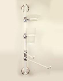 Болеро бяло/хром.порц.колона за баня