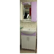 Мебели за баня PVC цени 55 см. STD к. лилав РАЗПРОДАЖБА