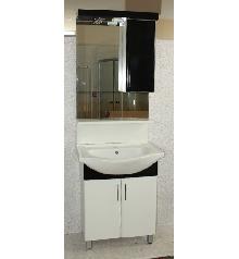 Мебели за баня PVC,68см.д.база,черен РАЗПРОДАЖБА