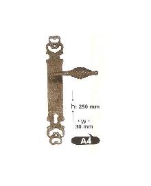 Дръжки за врата А 4 секр. и обикновенна, цвят черна патина